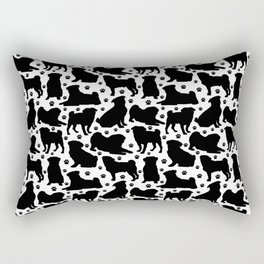 Pugs n Paws Rectangular Pillow
