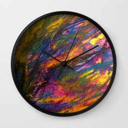 Sunset in the enchanted forest Wall Clock