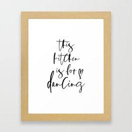 this kitchen Framed Art Print