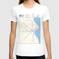 milwaukee T-shirts featuring Milwaukee Transit System Map by Carticulate Maps