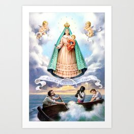 Virgen de N.S. de La Caridad del Cobre (Patrona de de la Isla de Cuba) Art Print
