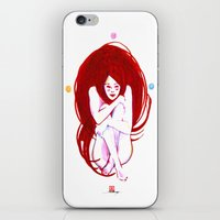 musa iPhone & iPod Skins featuring MUSA RED by Xavi Guerra