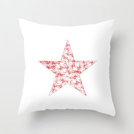 vintage look russian red star Throw Pillow