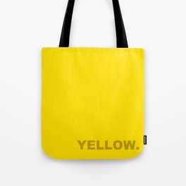 Yellow color less is more, happy summer design Tote Bag