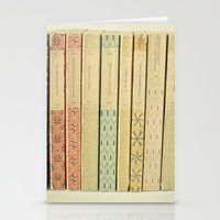 teal Stationery Cards featuring Old Books by Cassia Beck