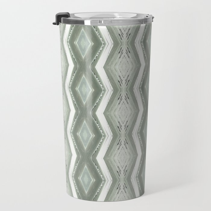 WAVY END OF SUMMER OCEAN PATTERN Travel Mug