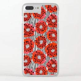 Poppy Flowers by Veronique de Jong Clear iPhone Case