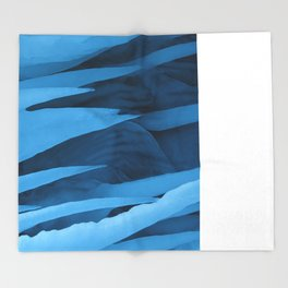Tipsy Icicle Blues Throw Blanket