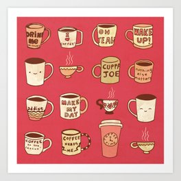 Coffee Society Art Print