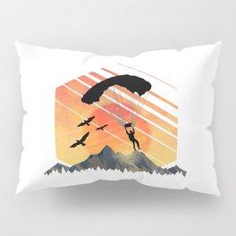 Vintage TEE Sun Sunset Clothing Parachute Pillow Sham