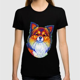 Colorful Long Haired Chihuahua Dog T-shirt