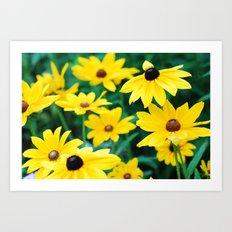 yellow flowers make me happy Art Print