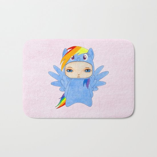 A Boy - Rainbow Dash Bath Mat