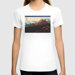Rainstorm Beneath the Summit (Sanka hakū or 山下白雨) T-shirt