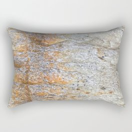 Rocky Rust Divide // Rock Formation Textured Background Accent Decoration Rectangular Pillow