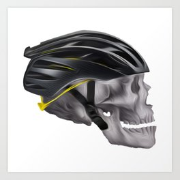 Cyclist Skull Art Print