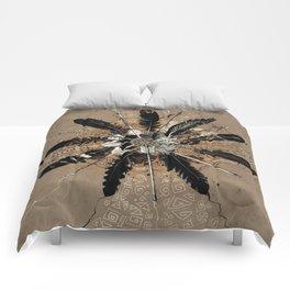 native vintage mandala Comforters
