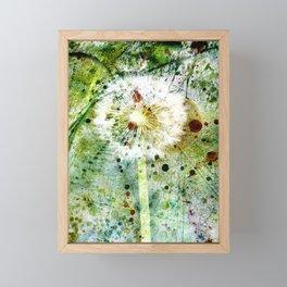 Springtime dandelion Framed Mini Art Print