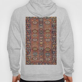 Southwestern Farmhouse I // 19th Century Colorful Red Yellow Blue Green Aztec Farm Stars Pattern Hoody