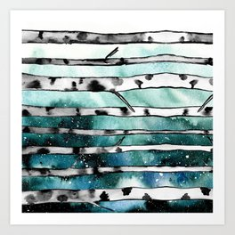 Abstract Birch Art Print