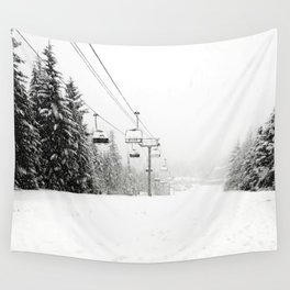 Lifts waiting for action in the snow Wall Tapestry