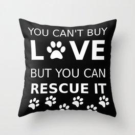 Animal rescue love Throw Pillow