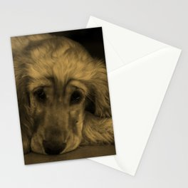 Cute Golden Retriever Dog Laying Down Stationery Cards