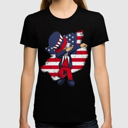4th Of July Dabbing Freedom Liberty America USA Independence Day Gift T-shirt