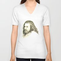 thorin V-neck T-shirts featuring Thorin Oakenshield by Zalazny