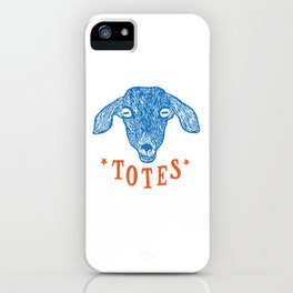 Totes Ma Goats iPhone Case