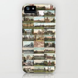 Kirkbride Asylum Vintage Postcard Collage iPhone Case