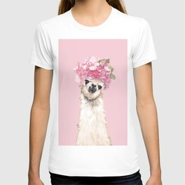 Llama with Flower Crown T-shirt
