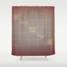 Beckett Bingo Shower Curtain