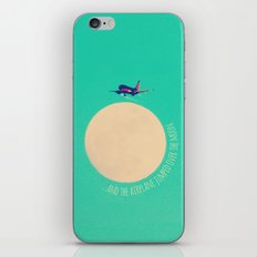 ...and the airplane jumped over the moon. iPhone Skin