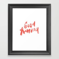 Good Karma Framed Art Print