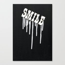 Dripping Smile Canvas Print