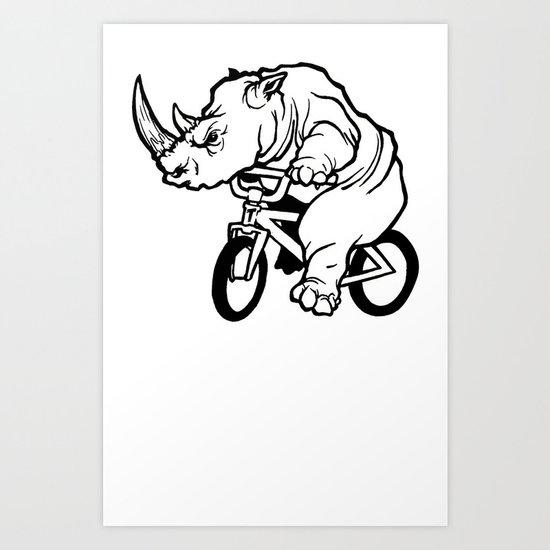 "TYRANT ""Ragin' Rhino"" Art Print"
