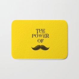 The power of Mustache Bath Mat