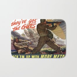 They've Got The Guts -- WWII Bath Mat