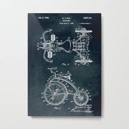 1938 Velocipede patent Metal Print