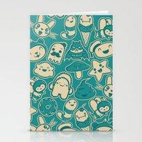 kawaii Stationery Cards featuring Kawaii by Hoborobo