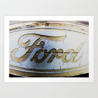 ford Art Prints featuring Ford by Sarah Welch