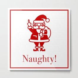Angry Santa Metal Print