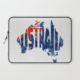 Australia Typographic World Map / Australia Typograpy Flag Map Art Laptop Sleeve