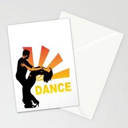 dancing couple silhouette - brazilian zouk Stationery Cards