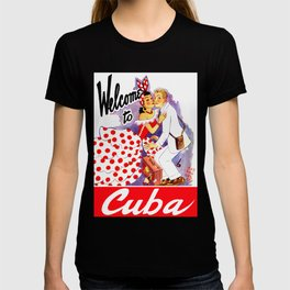 Vintage Welcome to Cuba Travel Poster T-shirt