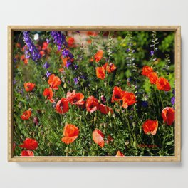 Poppies Serving Tray
