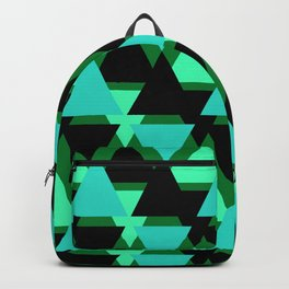 Abstract pattern . The green triangles . Backpack