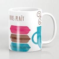 macarons Mugs featuring Macarons  by Daniela Marti