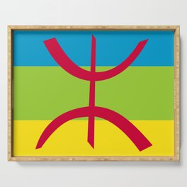 Flag of Berber Serving Tray